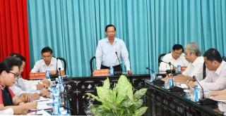 Bí thư Tỉnh ủy làm việc với các huyện, thành phố về công tác chuẩn bị đại hội Đảng các cấp