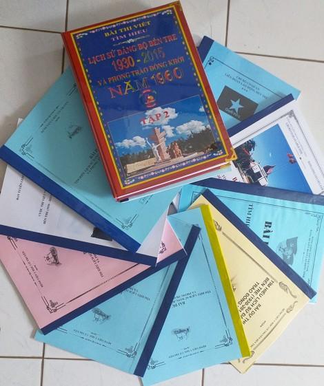 2,3 ngàn bài dự thi Tìm hiểu Lịch sử Đảng bộ tỉnh Bến Tre (1930 - 2015) và phong trào Đồng khởi năm 1960