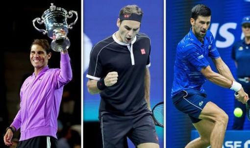 Novak Djokovic, Rafael Nadal và Roger Federer có thứ hạng cao nhất trên thế giới