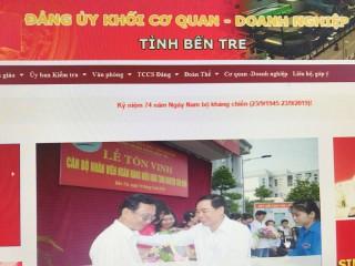 Giới thiệu Website Đảng bộ Khối Cơ quan - Doanh nghiệp tỉnh