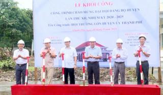 Khởi công Hội trường lớn Huyện ủy Thạnh Phú