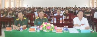 Khai mạc diễn tập khu vực phòng thủ huyện Giồng Trôm