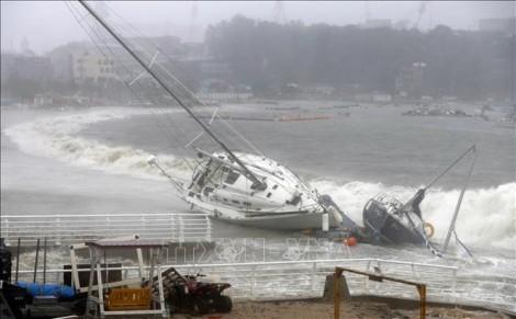 Bão Tapah đổ vào miền Tây Nam Nhật Bản