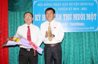 Ông Nguyễn Văn Dũng được bầu làm Chủ tịch UBND huyện Bình Đại