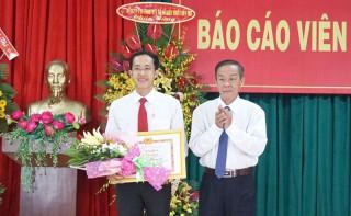 Thí sinh Nguyễn Thái Hùng đoạt giải Nhất Hội thi báo cáo viên cơ sở giỏi năm 2019