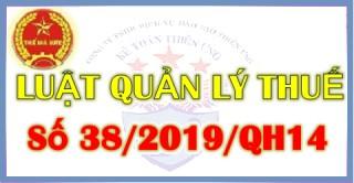Luật quản lý thuế số 38/2019/QH14 (tt)