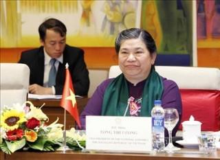 Phó Chủ tịch Thường trực Quốc hội Tòng Thị Phóng dự lễ khai mạc Đại Hội đồng IPU-141