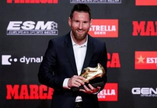 """Messi ẵm """"Giày vàng"""" thứ 6"""