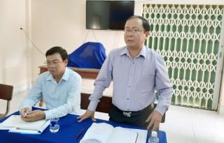 Lãnh đạo huyện Bình Đại kiểm tra việc phòng chống dịch tả lợn châu Phi