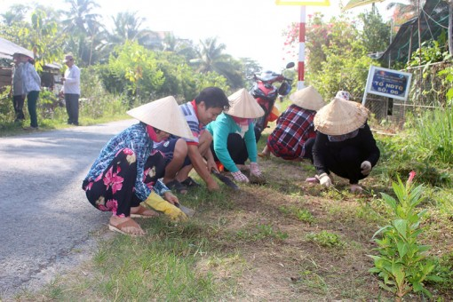 Góp phần xây dựng và nâng chất xã nông thôn mới