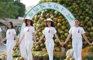 """""""Check in"""" phố đi bộ Lễ hội Dừa"""