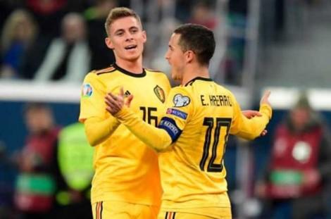 Bảng I vòng loại Euro 2020:  Bỉ đánh bại Nga 4-1