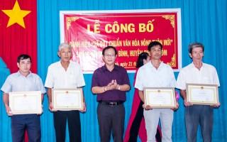 Châu Bình được công nhận danh hiệu xã văn hóa - nông thôn mới