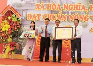 Công bố xã Hòa Nghĩa đạt chuẩn nông thôn mới