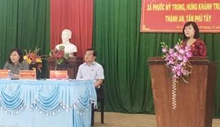Đại biểu Quốc hội đơn vị tỉnh tiếp xúc cử tri tại Mỏ Cày Bắc