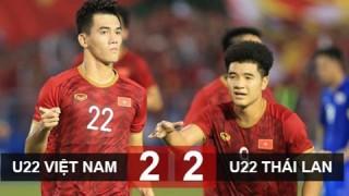Hoà kịch tính U22 Thái Lan, U22 Việt Nam thẳng tiến vào bán kết với ngôi nhất bảng B