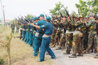 Ban Chỉ huy Quân sự huyện Giồng Trôm thực hiện tốt Cuộc vận động 50