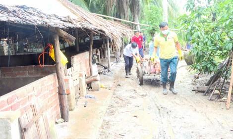 3 xã của huyện Thạnh Phú xảy ra dịch lở mồm long móng