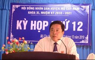 HĐND huyện Mỏ Cày Nam khai mạc Kỳ họp lần thứ 12