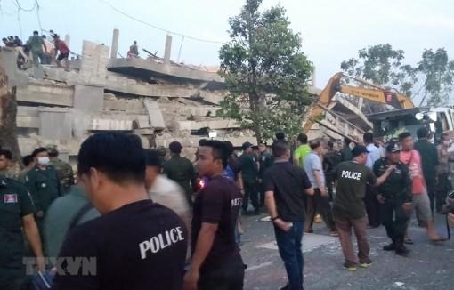Vụ sập công trình tại Campuchia: Xác định nhiều người tử vong