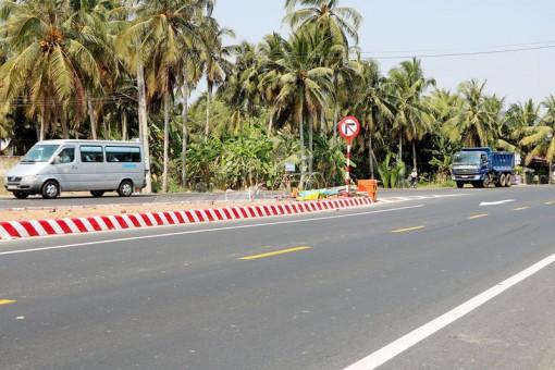 Mất an toàn giao thông khi đi vào tuyến quốc lộ 60 (đoạn mới)