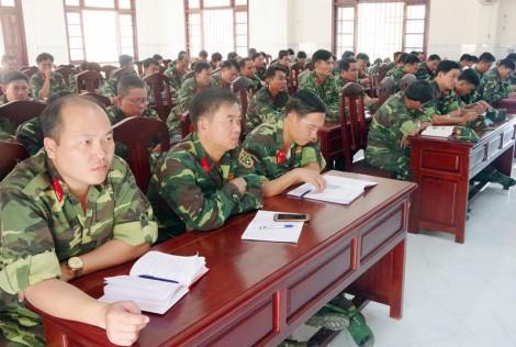 Bộ Chỉ huy Quân sự tỉnh tập huấn cán bộ năm 2020