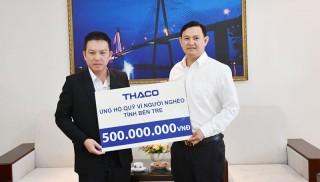 Trao 500 triệu đồng hỗ trợ Quỹ vì người nghèo Bến Tre