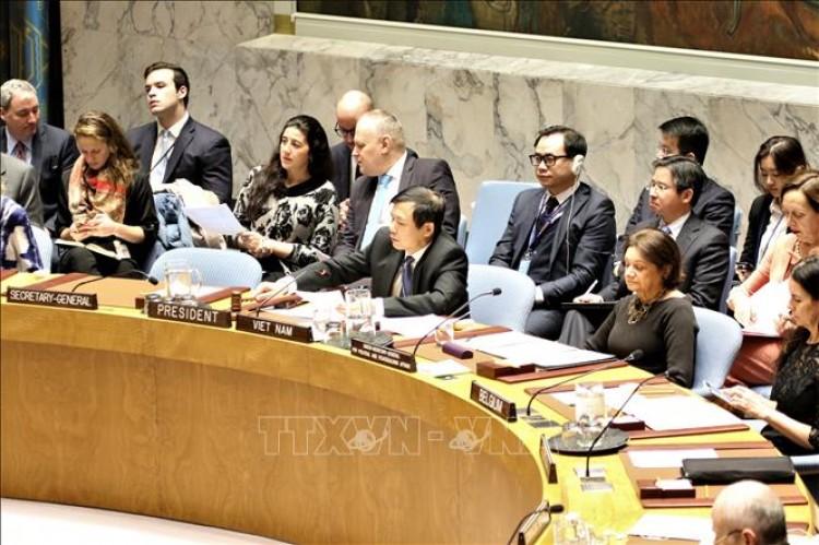 Việt Nam chủ trì Phiên họp của Hội đồng Bảo an về tình hình Israel và Palestine