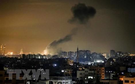 Israel không kích các mục tiêu của phong trào Hamas tại Dải Gaza