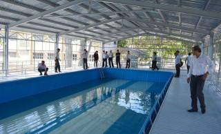 Bến Tre tiếp nhận 2 hồ bơi thông minh từ nguồn tài trợ
