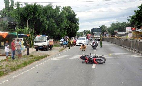 Va chạm giao thông làm 1 người bị thương