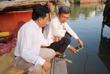 Ủy ban sông Mê Công Việt Nam làm việc tại tỉnh