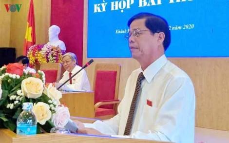 Ông Nguyễn Tấn Tuân được bầu giữ chức Chủ tịch tỉnh Khánh Hòa