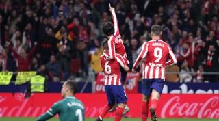 Atletico Madrid leo lên thứ 3