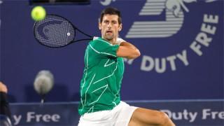 Djokovic tốc hành vào tứ kết Dubai Championships 2020