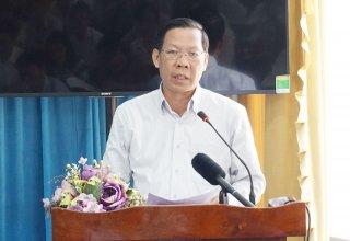 Bí thư Tỉnh ủy Phan Văn Mãi làm việc với Huyện ủy Bình Đại