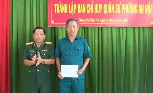 Công bố Quyết định thành lập Ban Chỉ huy Quân sự phường An Hội