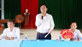 Kiểm tra tiến độ xây dựng xã nông thôn mới Tân Phong