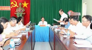 Bí thư Tỉnh ủy Phan Văn Mãi làm việc với Thường trực Huyện ủy Chợ Lách về công tác tiếp công dân