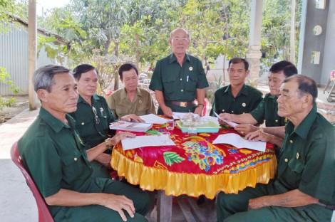 Cựu binh ấp Thạnh Hòa tham gia bảo vệ an ninh trật tự khu vực biên giới biển