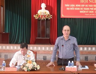 TP. Bến Tre lấy ý kiến đóng góp văn kiện Đại hội đại biểu Đảng bộ lần thứ XII