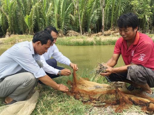 Thủy sản bị thiệt hại do nước mặn