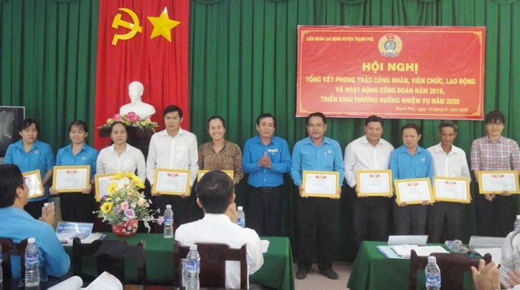 Công đoàn Thạnh Phú với những kết quả nổi bật