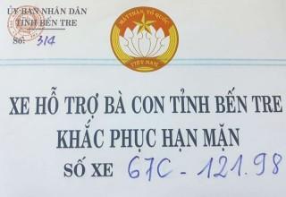 Về việc không thu phí xe chở nước từ thiện qua Trạm thu phí BOT cầu Rạch Miễu