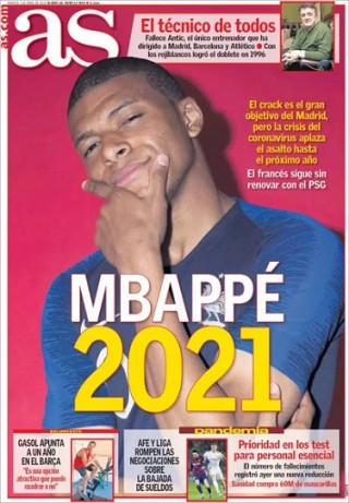 Tin bóng đá mùa COVID-19 7-4-2020: Real Madrid lùi thời hạn mua Mbappe