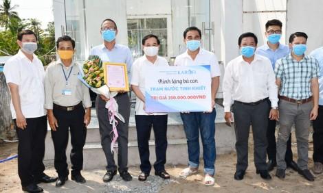 Công ty cổ phần Tập đoàn Karofi tặng trạm nước tinh khiết tại xã Phước Hiệp
