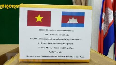 Campuchia cảm ơn Việt Nam đã hỗ trợ thiết bị chống dịch