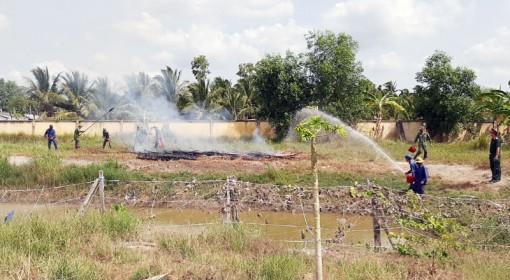 Lực lượng vũ trang tỉnh tăng cường phòng cháy chữa cháy