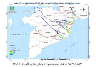 Đồng bằng sông Cửu Long: Xâm nhập mặn trong tháng 5 vẫn ở mức cao