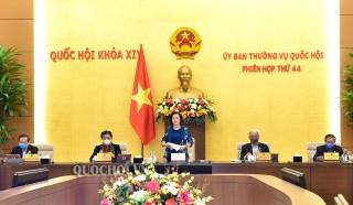 Chương trình Phiên họp thứ 45 của Ủy ban Thường vụ Quốc hội